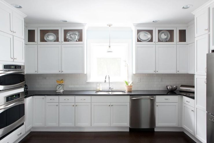 White Kitchen Cabinets With Black Countertops   Transitional   Kitchen    Beth Haley Design Part 39