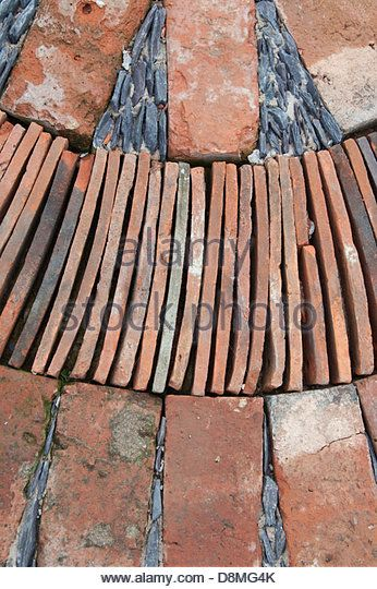 Decorative Ridge Tiles Traditional Roof Tiles Turned On Edge To Pave A Path Kyoto  Art