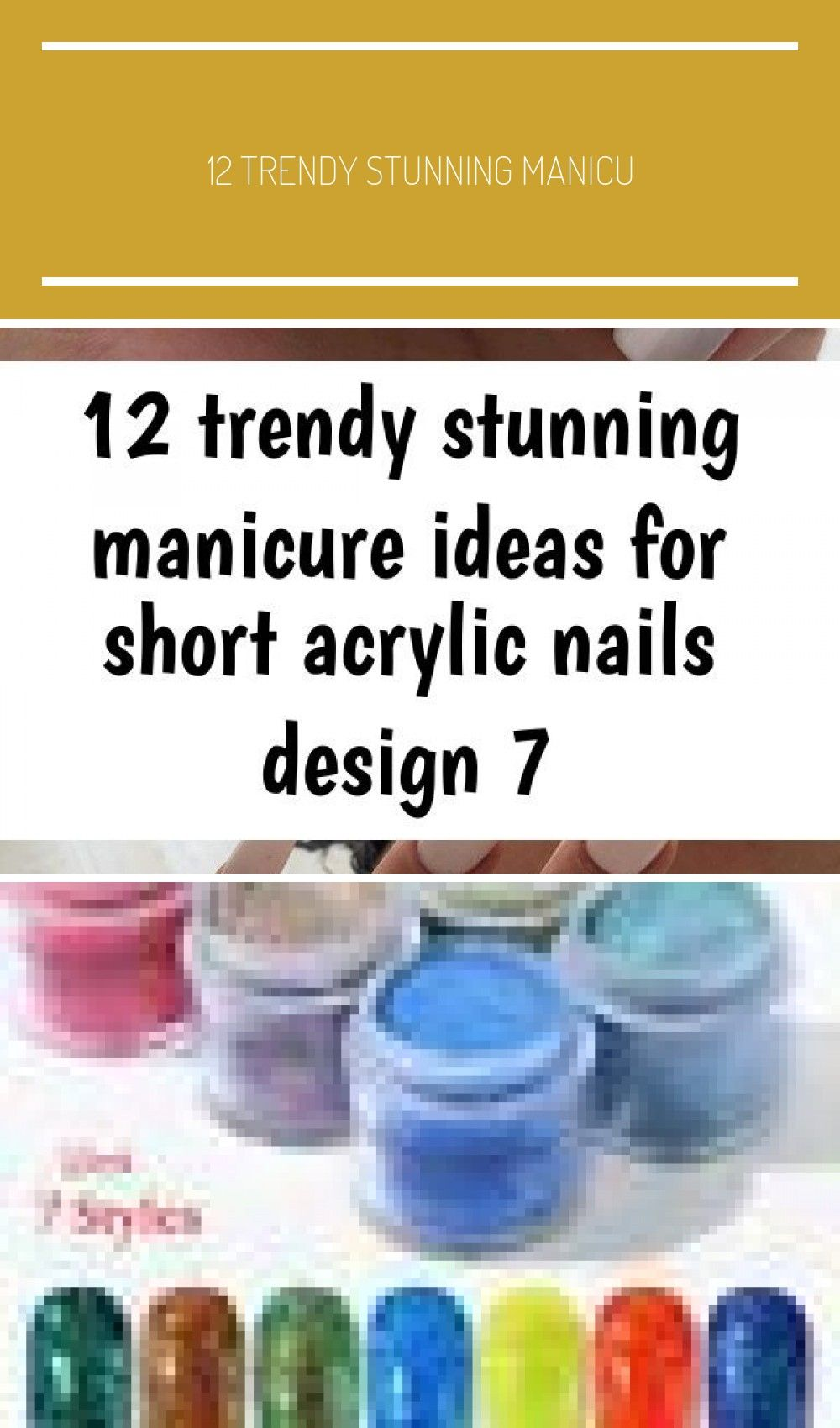 12 Trendy Stunning Manicure Ideas For Short Acrylic Nails Design – Esther Adeniyi We have assembled several of the best nail art designs. Be sure you …