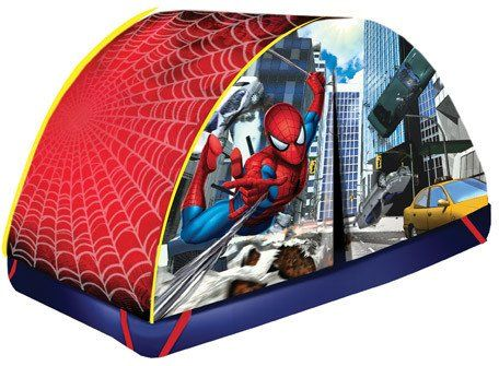 spiderman bed tent on SALE perfect for indoor c&ing for kids  sc 1 st  Pinterest : spider man tents and playhouses - memphite.com