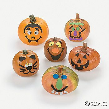 Small Pumpkin Face Craft Kit Pumpkin Decorating Pumpkin Faces