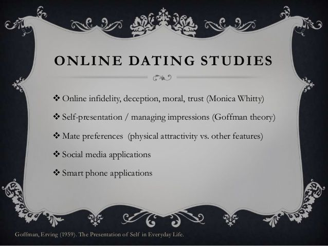 Presentation Online In Self Dating And Deception