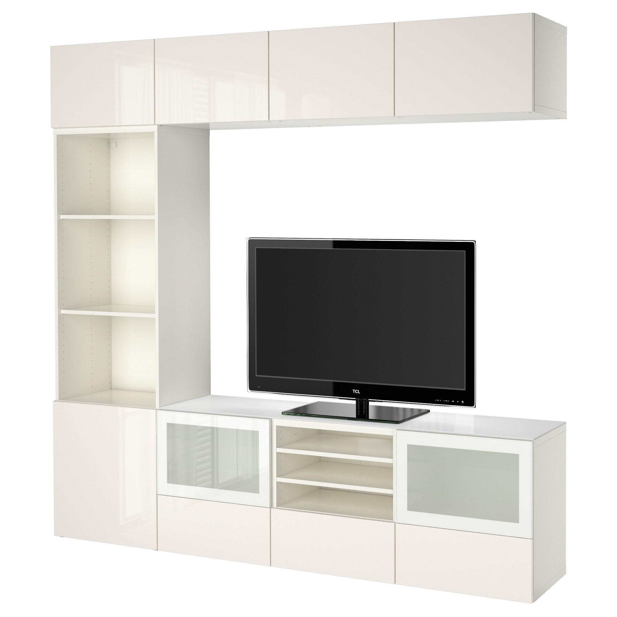 Ikea Best Tv Opbergcombi Vitrinedeuren Laderail  # Support De Tele Ikea