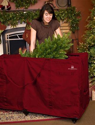 XL Wheeled Tree Storage Bag | Tree bag, Christmas tree and Balsam hill