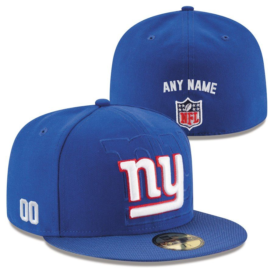 799002f214d Men s New York Giants New Era Royal Custom On-Field 59FIFTY Structured Fitted  Hat