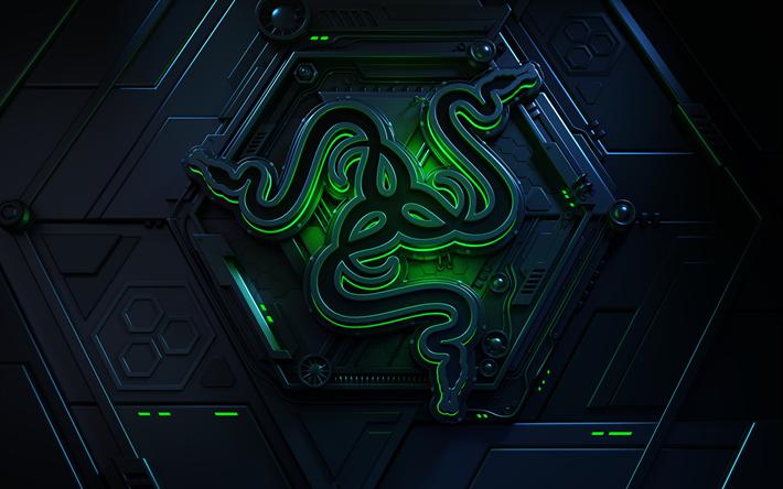 Download Wallpapers 4k Razer 3d Logo Creative Razer Logo