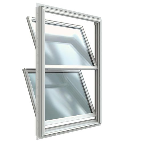JELDWEN Builders Series Vinyl Double Hung Window with Nailing Menards windows