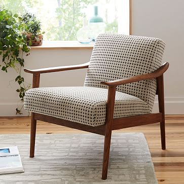 Mid-Century Show Wood Upholstered Chair #westelm Damn, if they don't just have everything. Just another sassy chair. With the 20% discount it would be 782.7 for 2 of them. I'll keep looking too. :)