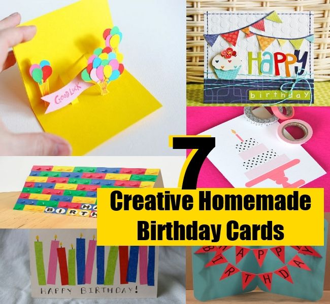 Creative Ideas For Birthday Card Making Part - 16: Recycling Of Waste Material ,Handmade Crafts Ideas: 7 Simple And Creative  Homemade Birthday Cards