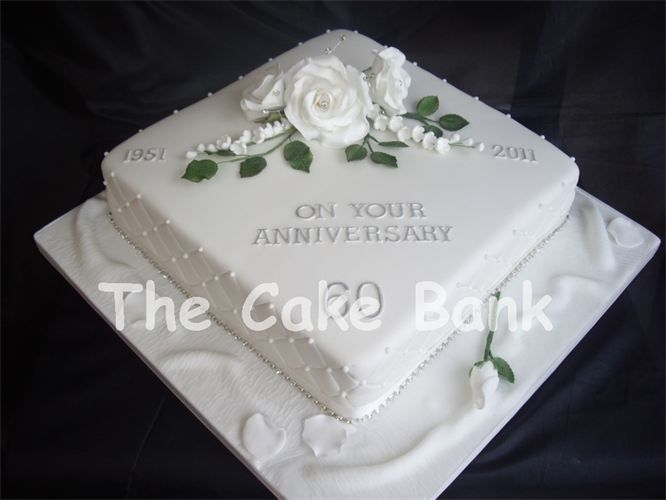 Wedding Anniversary Cake Design Ideas : 60th wedding anniversary cake ideas - Google Search cake ...
