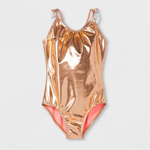 e52798f3e0b Girls  Rise and Shine One Piece Swimsuit - Cat   Jack™ Gold XS ...