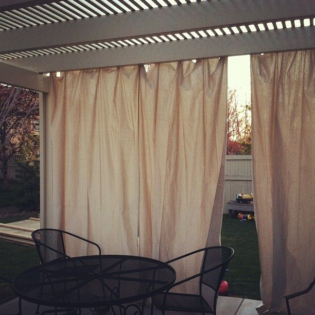 Outdoor Curtains Drop Cloths Command Hooks Curtain Rings Outdoor Living Decor Diy Patio Furniture Basement Makeover