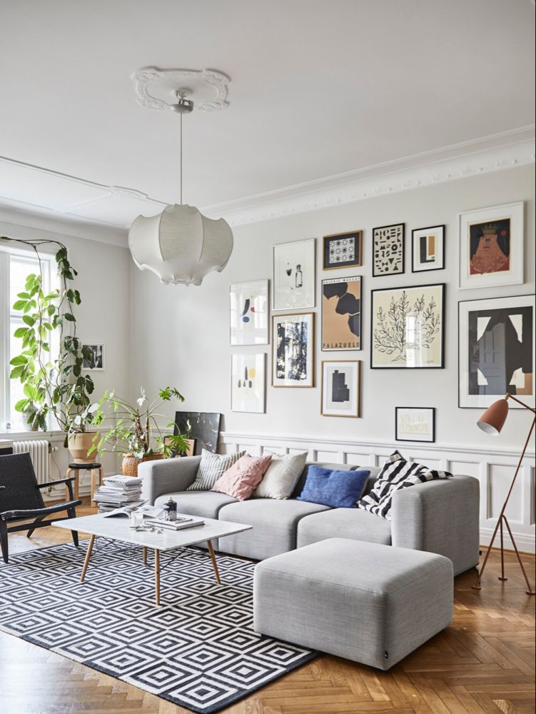 A Scandinavian Apartment Decorated in Blue and Grey Tones   Interior, Decor, Scandinavian apartment