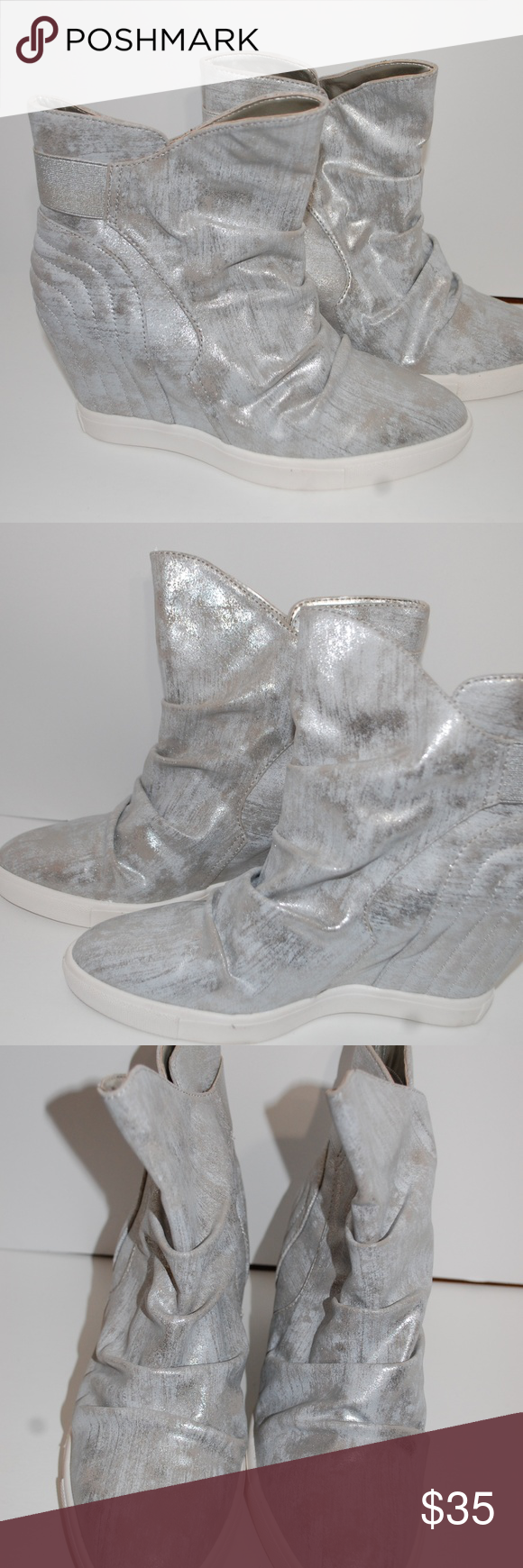cbaeb78eb89a NWOB Jennifer Lopez Silver High Heel Wedge Booties NWOB Jennifer Lopez  Silver High Heel Wedge Booties Frannie Silver Jennifer Lopez Shoes Ankle  Boots   ...