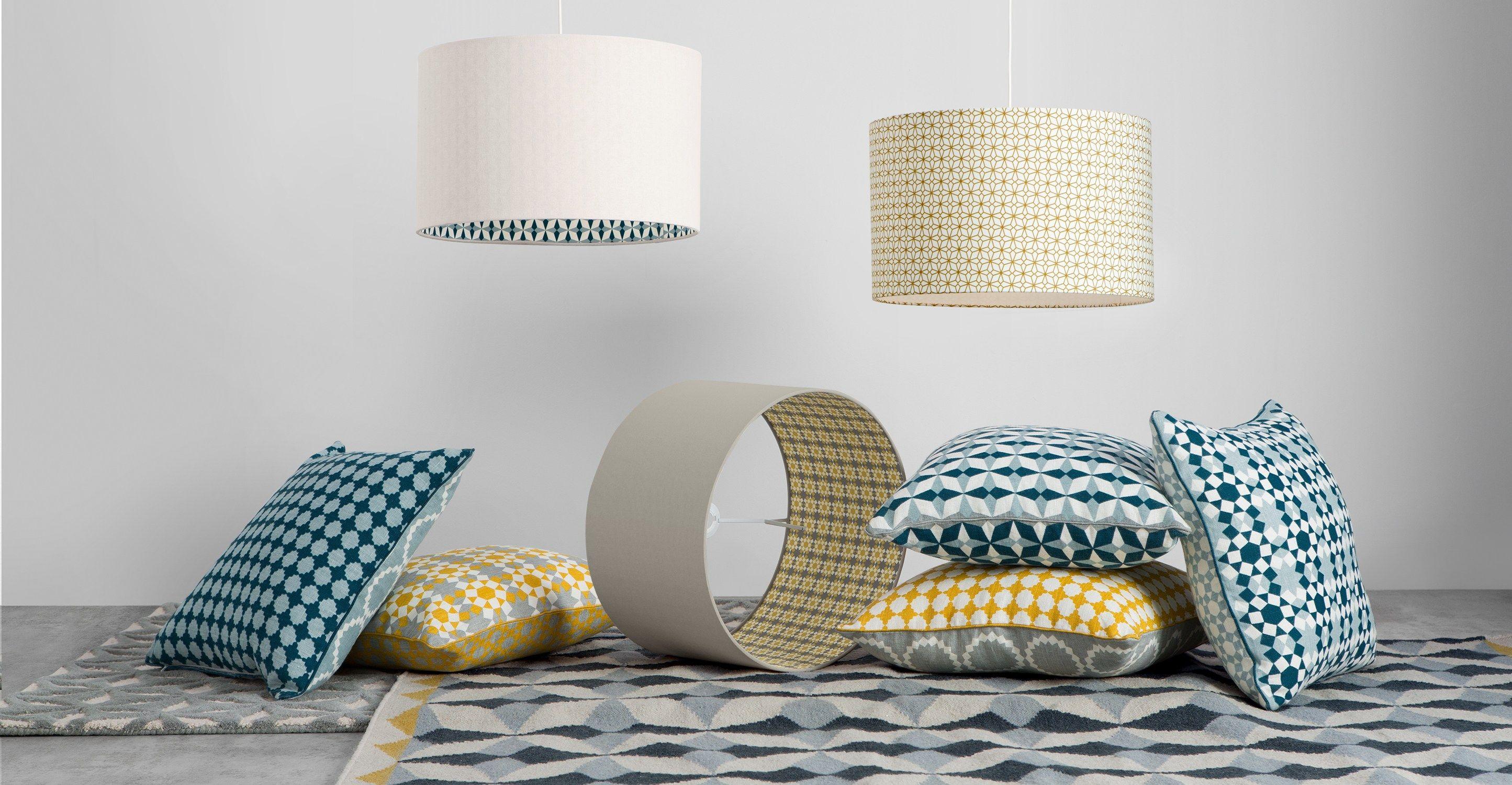 Lampenschirm Schlafzimmer ~ Etruria lampenschirm senfgelb und weiß wohnen