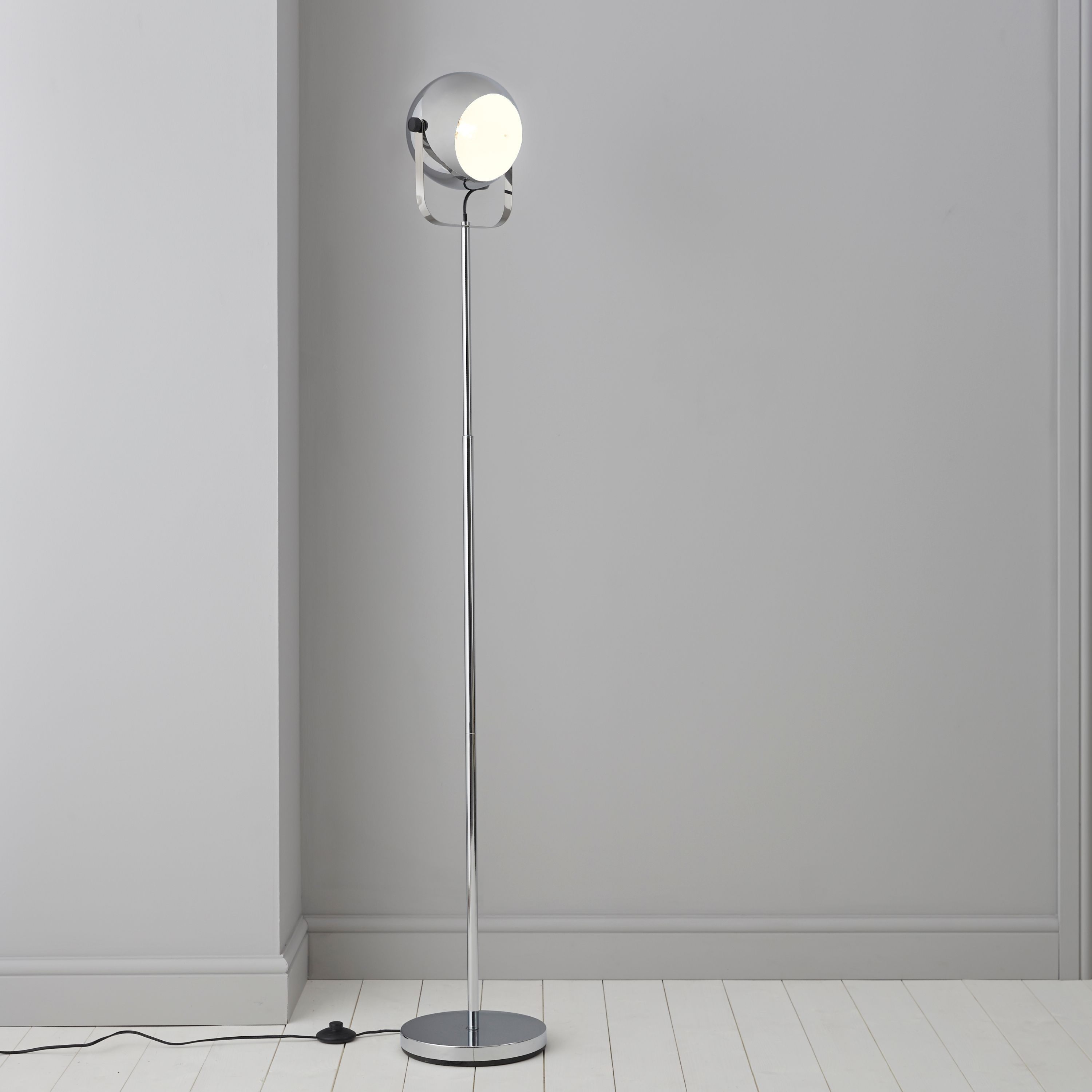 Bobo Chrome Effect Floor Lamp | Floor lamp, Sitting rooms and Kitchens