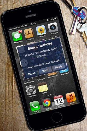 Iphone Birthday Party Digital Printable Invitation Template
