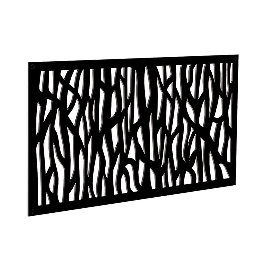 Shop Freedom Common 24 In X 4 Ft Actual 0 3 In X 23 875 In X 3 989 Ft Black Vinyl Latt Decorative Screen Panels Decorative Fence Panels Decorative Screens