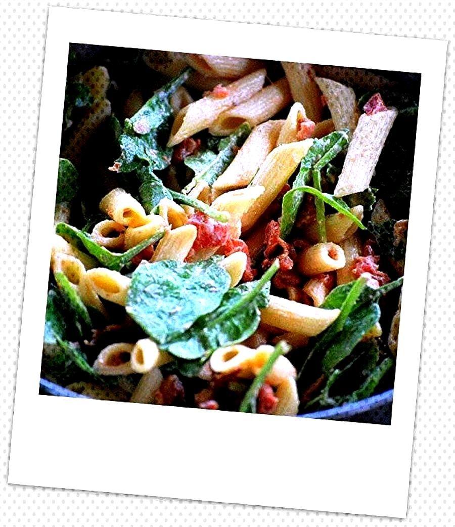 ~ Bacon - Spinach - Tomato - Pasta Salad ~
