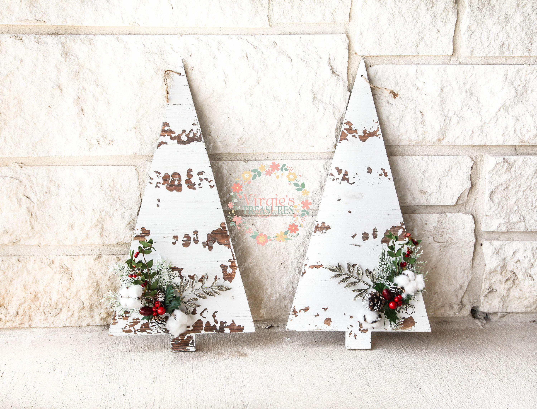 Rustic wooden christmas tree set christmas wall decor holiday wall