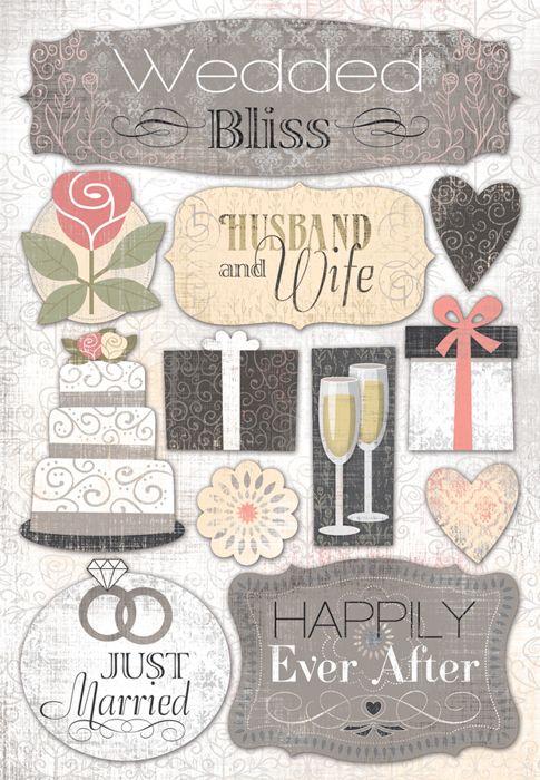 Karen Foster Design Wedding Collection Cardstock Stickers