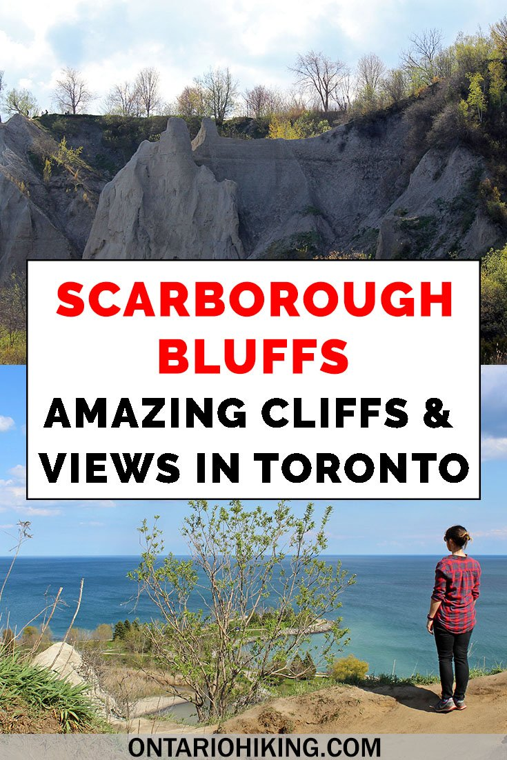 It's one of the most beautiful views in Toronto. Here's how to plan your visit to the Scarborough Bluffs. View these spectacular cliffs from the park (and go to the beach!) and admire the incredible scenery from the top.   #Scarborough #Toronto #Ontario #Hiking #Bluffs #Cliffs #LakeOntario  Hiking in Toronto | Toronto Hiking | Scarborough Bluffs | Bluffer's Park | Walking Trails in Toronto | Hiking Trails in Toronto