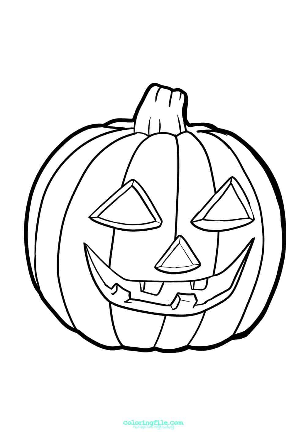Halloween Jack O Lantern Pumpkin Coloring Pages From 100