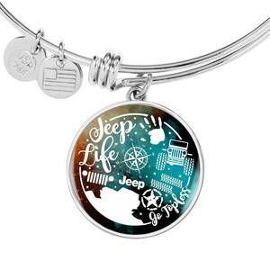 """Jeep Life"" Circle – Bangle-Bracelet Adjustable"