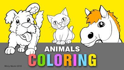 Art and Lore: Animals Coloring (Halaman Mewarnai Binatang/Hewan)...