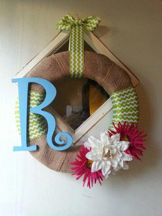 Simple Chic Burlap Wreath