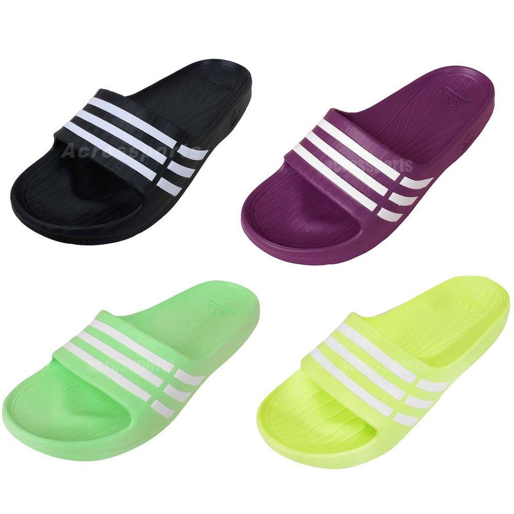 Simple Adidas - Adilette Duramo Sleek Womenu0026#39;s Slides (black/white) - Buy It At The Keller Sports Online ...
