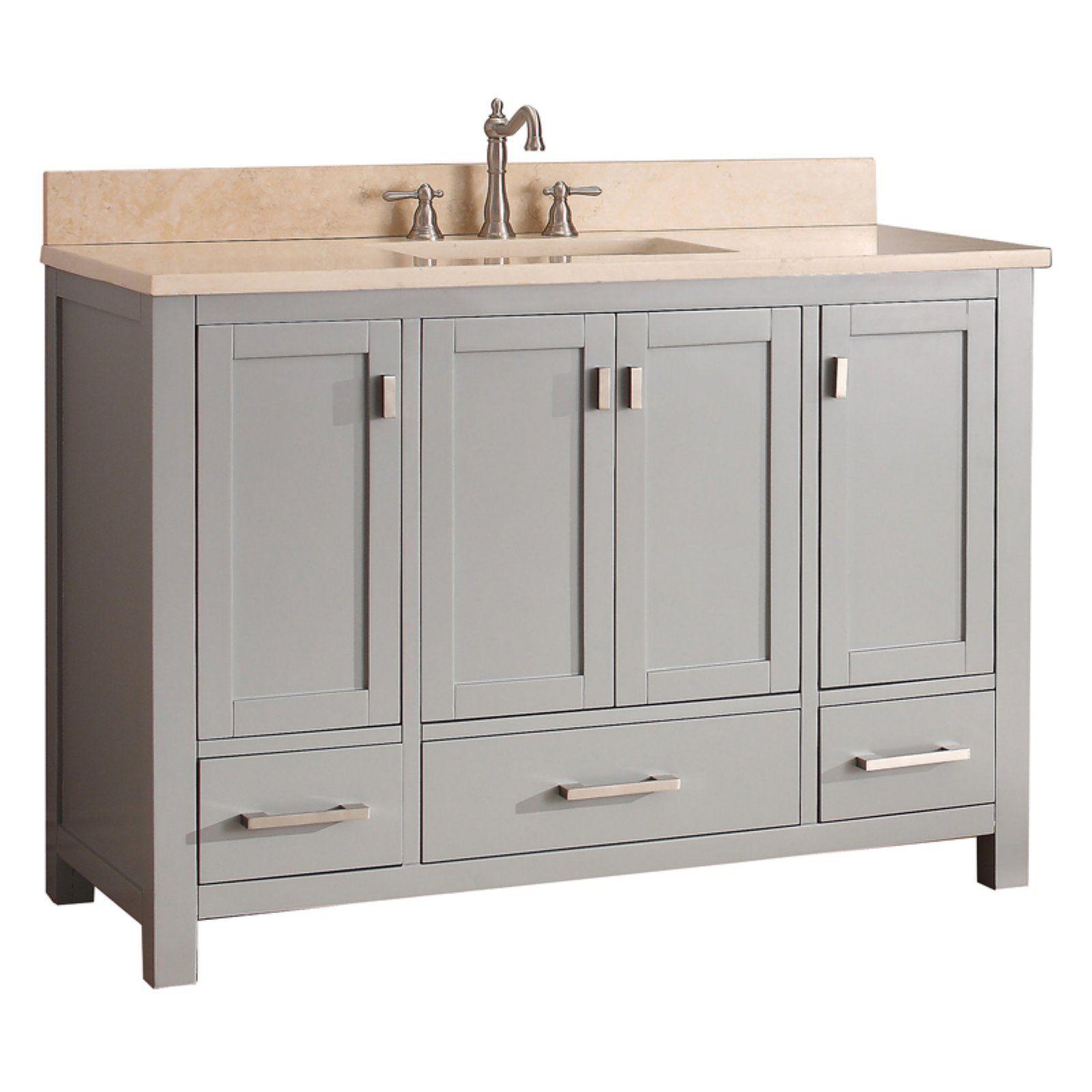 Avanity Modero Vs36 Cg Modero 48 In Single Bathroom Vanity