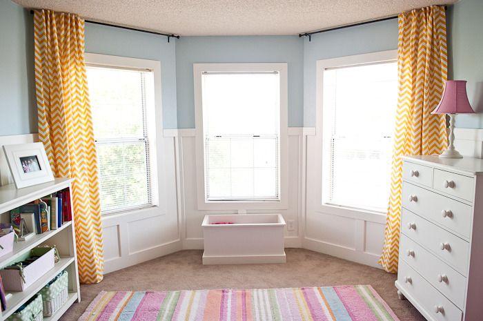 DIY Hidden Tab Chevron Curtains | Chevron curtains ...