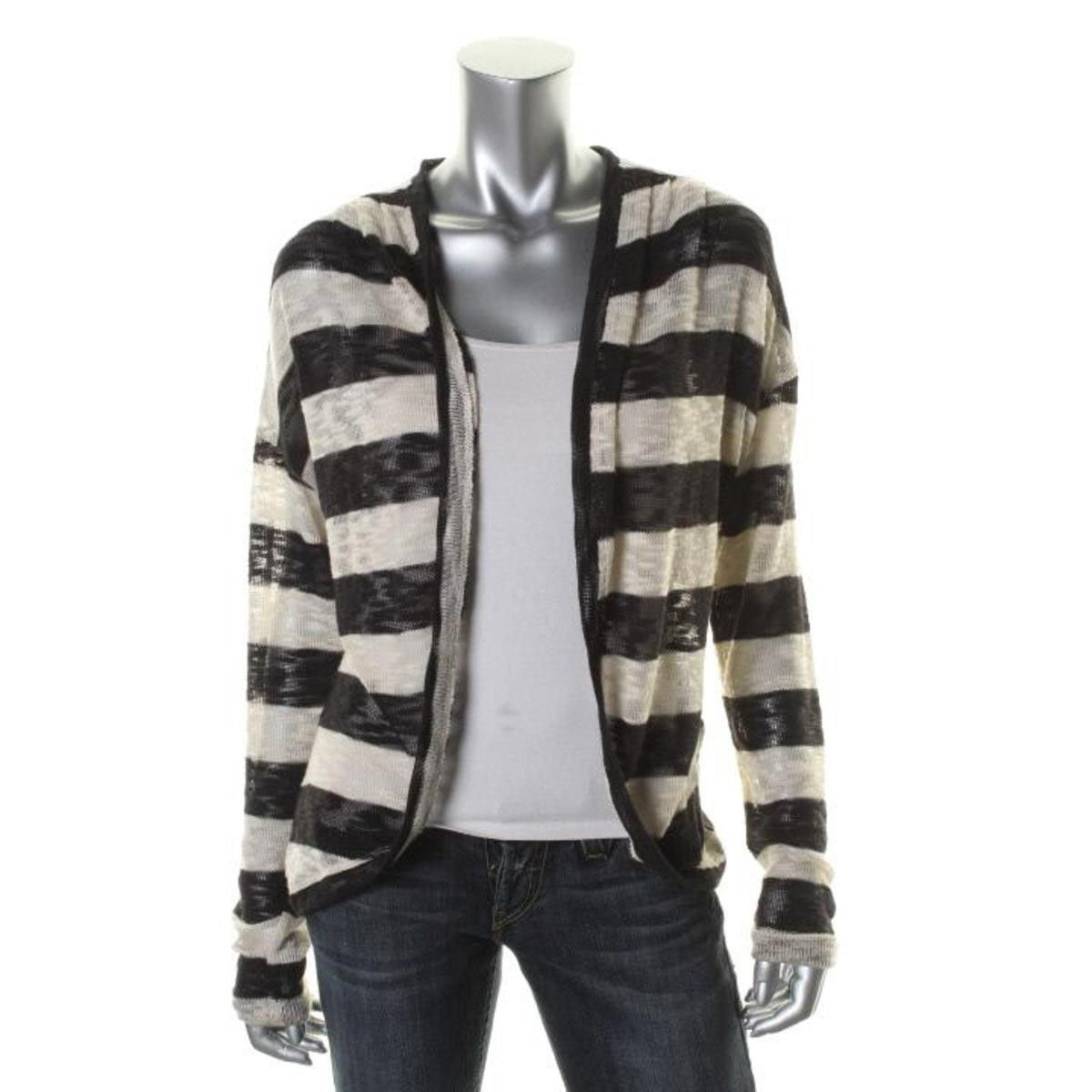 American Rag Womens Juniors Striped Lace Overlay Cardigan Sweater ...