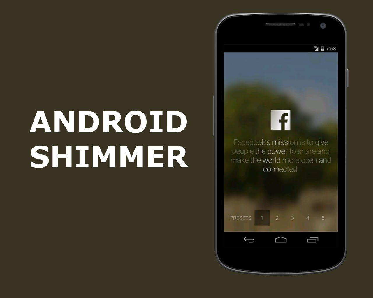 Android facebook shimmer programming tutorial android