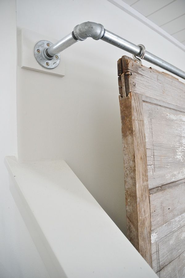 Industrial Pipe Sliding Barn Door Tv Cover Diy Ideas Doors Diy