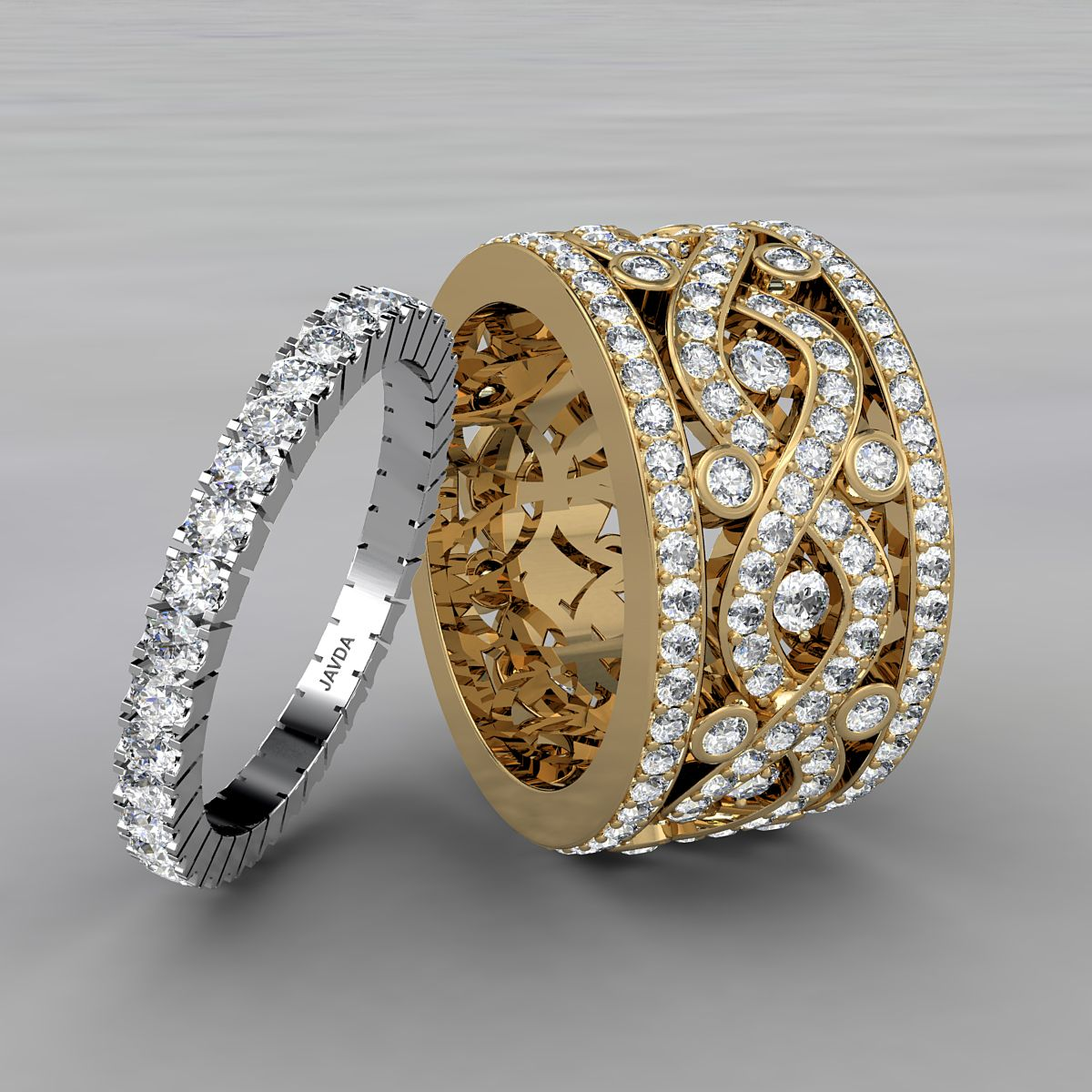 Beautiful round diamond womens eternity wedding band made