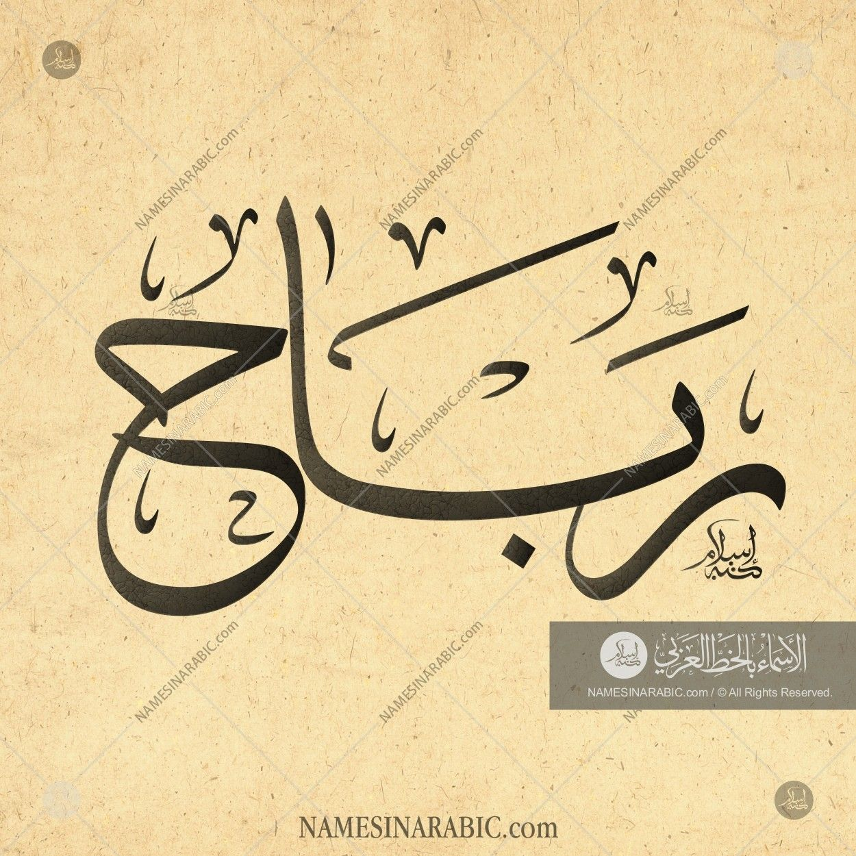 Rabah رباح Names In Arabic Calligraphy Name 3494 Calligraphy Name Calligraphy Names