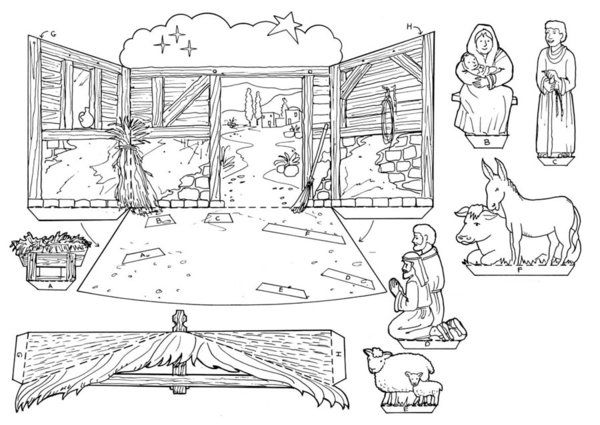 Nativity Coloring Page Pic Source