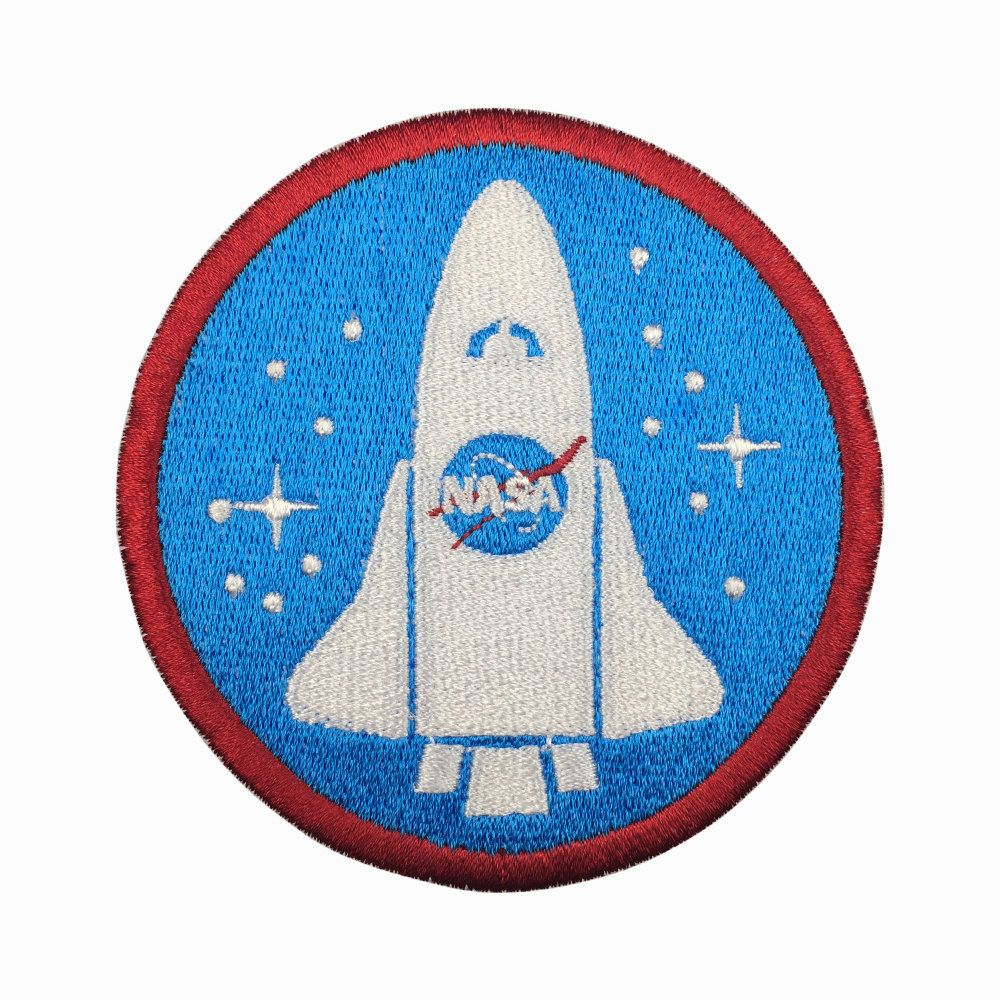 NASA Space Logo Applique Blue White Red Embroidered Iron On Patch 4 Inches