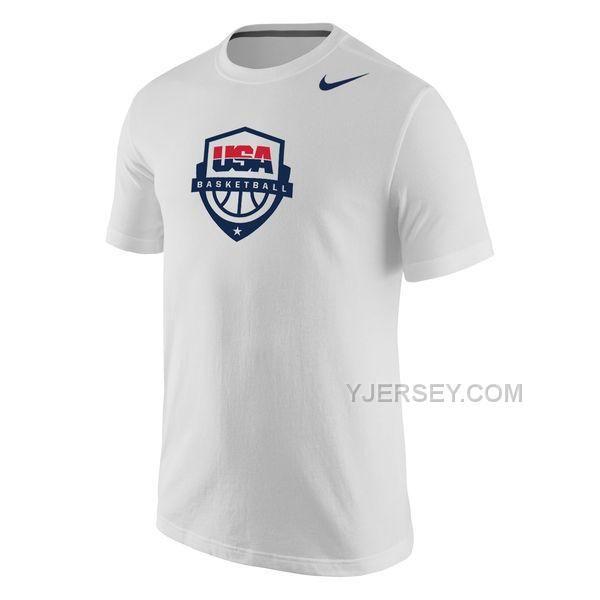 http://www.yjersey.com/team-usa-nike-basketball-core-cotton-tshirt-white.html Only$27.00 TEAM USA #NIKE BASKETBALL CORE COTTON T-SHIRT WHITE Free Shipping!