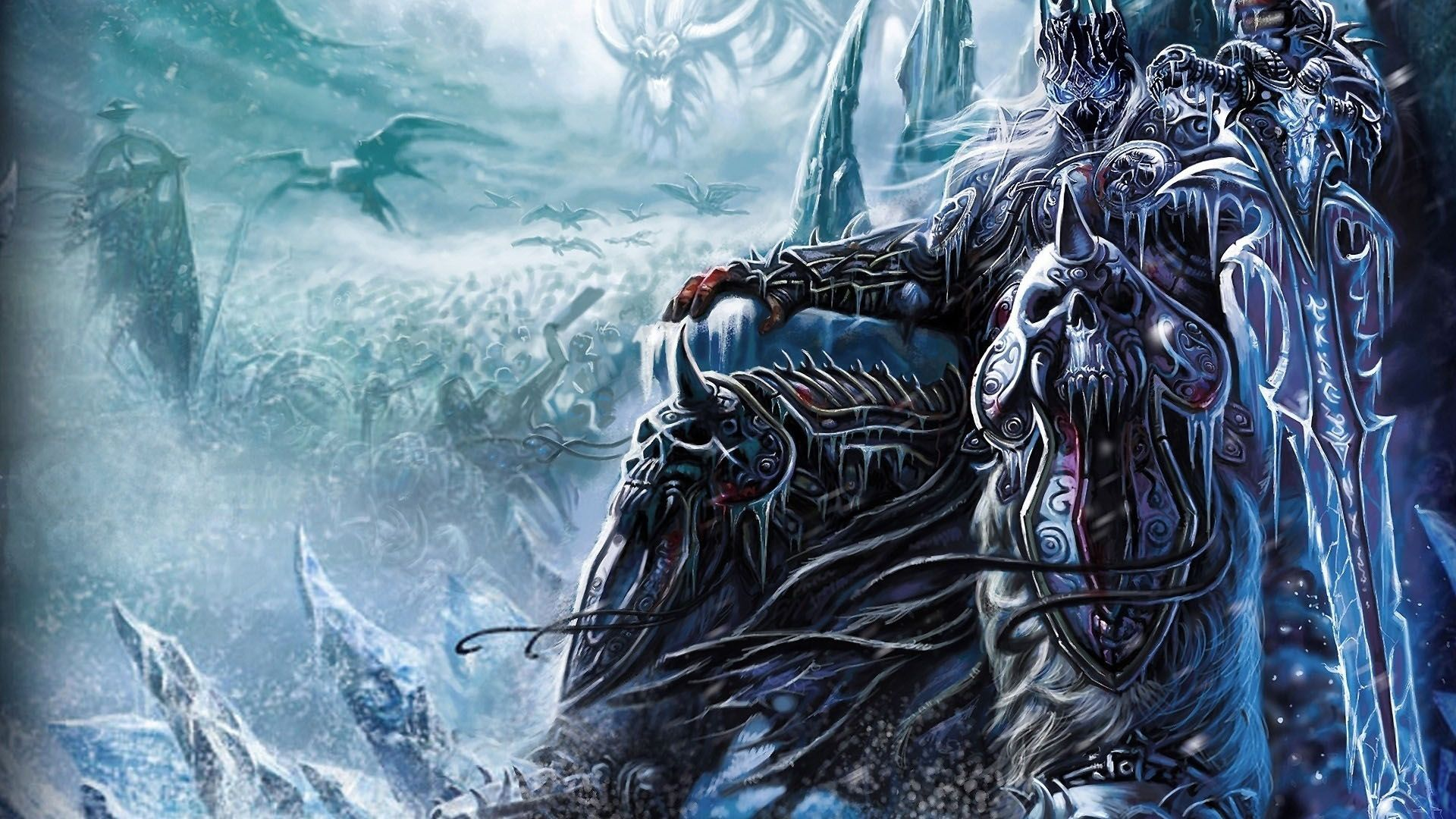 Wow The Lich King On His Iced Throne 1920x1080 Full Hd 16 9 Wallpaper 2068 On Wallpapermade Papel De Parede Hd Mundo Da Arte World Of Warcraft