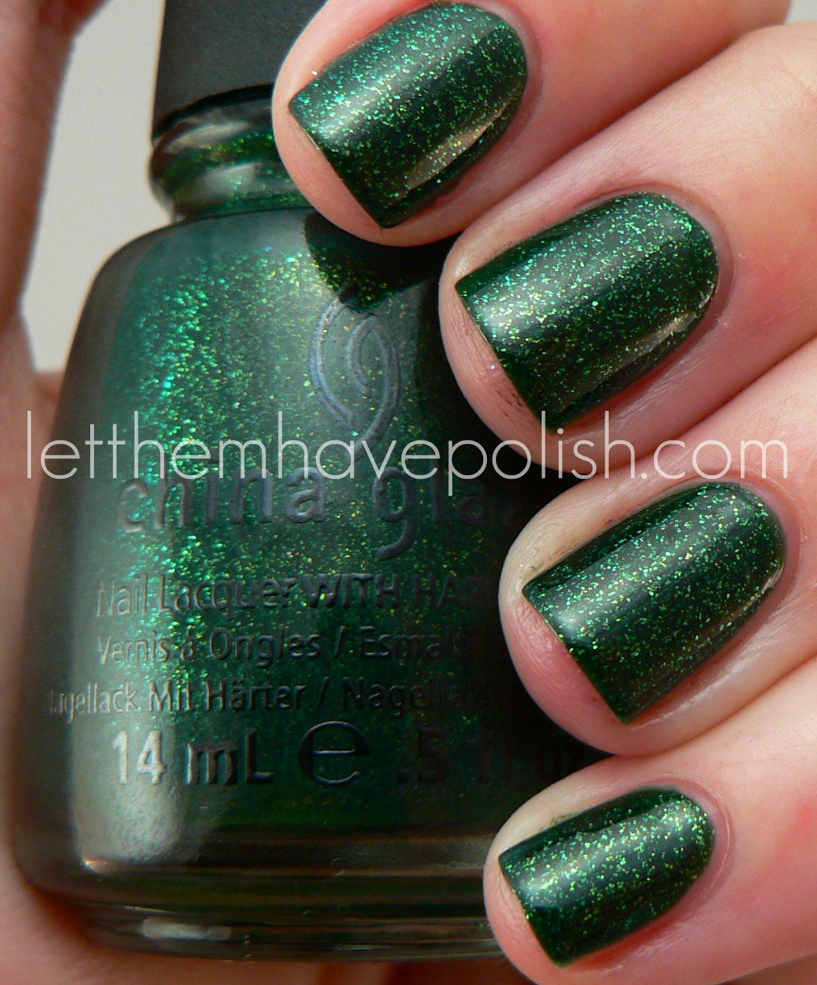 China glaze glittering garland used for half a holiday manicure glittering garland by china glaze so pretty nvjuhfo Gallery