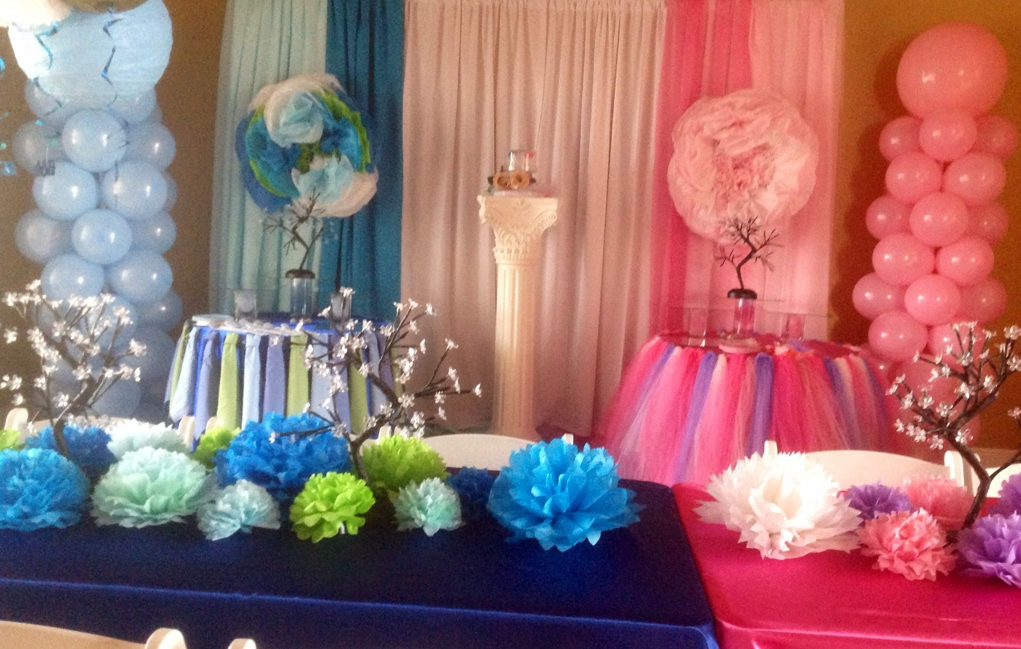 Baby shower baby girl baby boy pink and blue baby shower gender