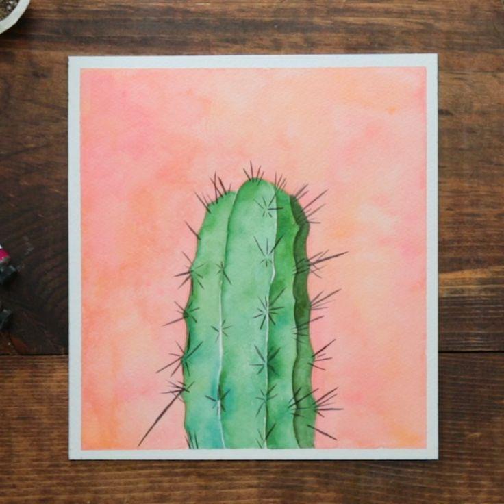 Anleitung Kaktus Kunstzeichnungen Aquarell Kunstmalerei