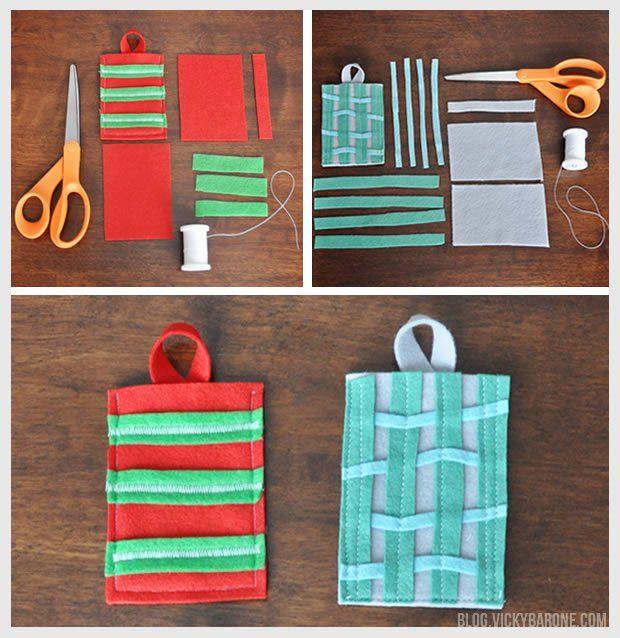 DIY Felt Gift Card Holder | Christmas gift card pocket | Holiday Gift Cards | Clever Christmas Crafts