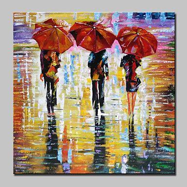 Handgeschilderde Abstract / Mensen Olie schilderijen,Modern Eén paneel Canvas Hang-geschilderd olieverfschilderij For Huisdecoratie – EUR € 42.89
