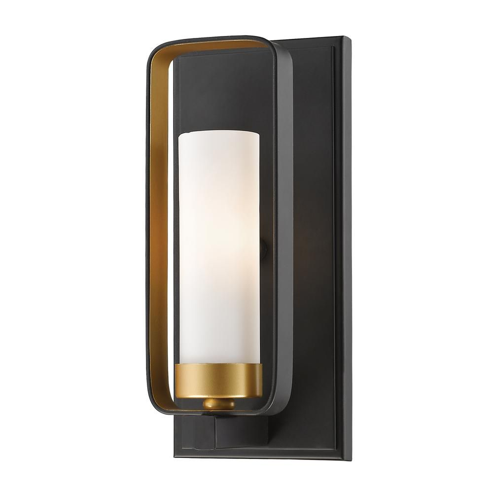Filament Design Austin 1 Light Bronze Gold Wall Sconce Hd Te81965 The Home Depot Gold Wall Sconce Wall Sconce Lighting Contemporary Wall Sconces