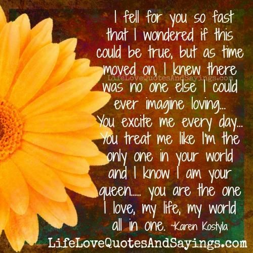 I fell for you so fast | DIY | Falling in love quotes, Love yourself