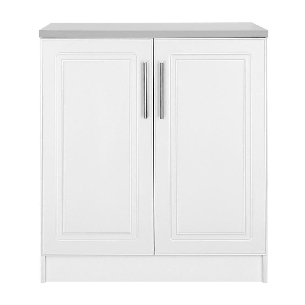 Best Hampton Bay Select Mdf 2 Door Base Cabinet In White Diy 640 x 480